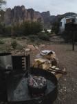 Dutch oven campfire cornbread