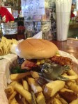 Mmm, a burger and fries….