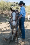 Trail guide Grady with mountain horse Cowboy of Cave Creek Trail Rides