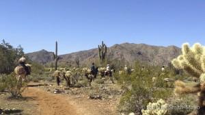 Horseback riders on the Ironwood Trail