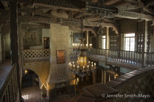 The great room in Scotty's Castle, Death Valley National Park, California