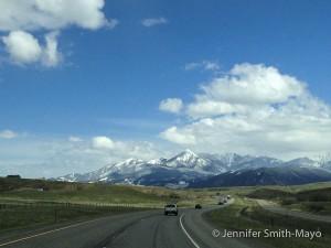 Team Gritty drives through Livingston, Montana