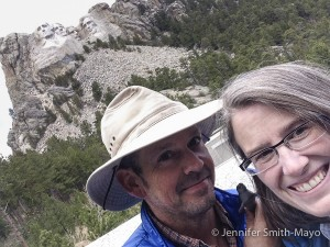 On the way to South Carolina, Team Gritty visits Mount Rushmore in South Dakota