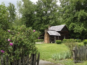 The well-preserved John Davis House, Mountain Farm Museum, Great Smoky Mountains National Park, North Carolina