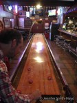 Matt tries his hand at shuffleboard