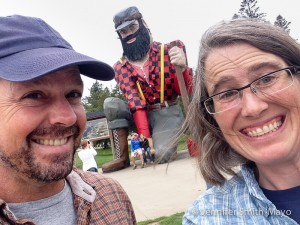 Team Gritty visits the Birthplace of Paul Bunyan, Akeley, Minnesota