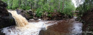 Panoramic of Amnicon Falls State Park, South Range, Wisconsin