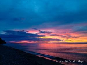 Sunset over Lake Superior, Muskallonge Lake State Park, Michigan
