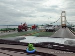 Antique Tractor Parade over the Mighty Mac (Mackinac Bridge), Michigan