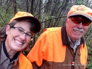 Jen and her dad birdhunt in Vermont's Northeast Kingdom